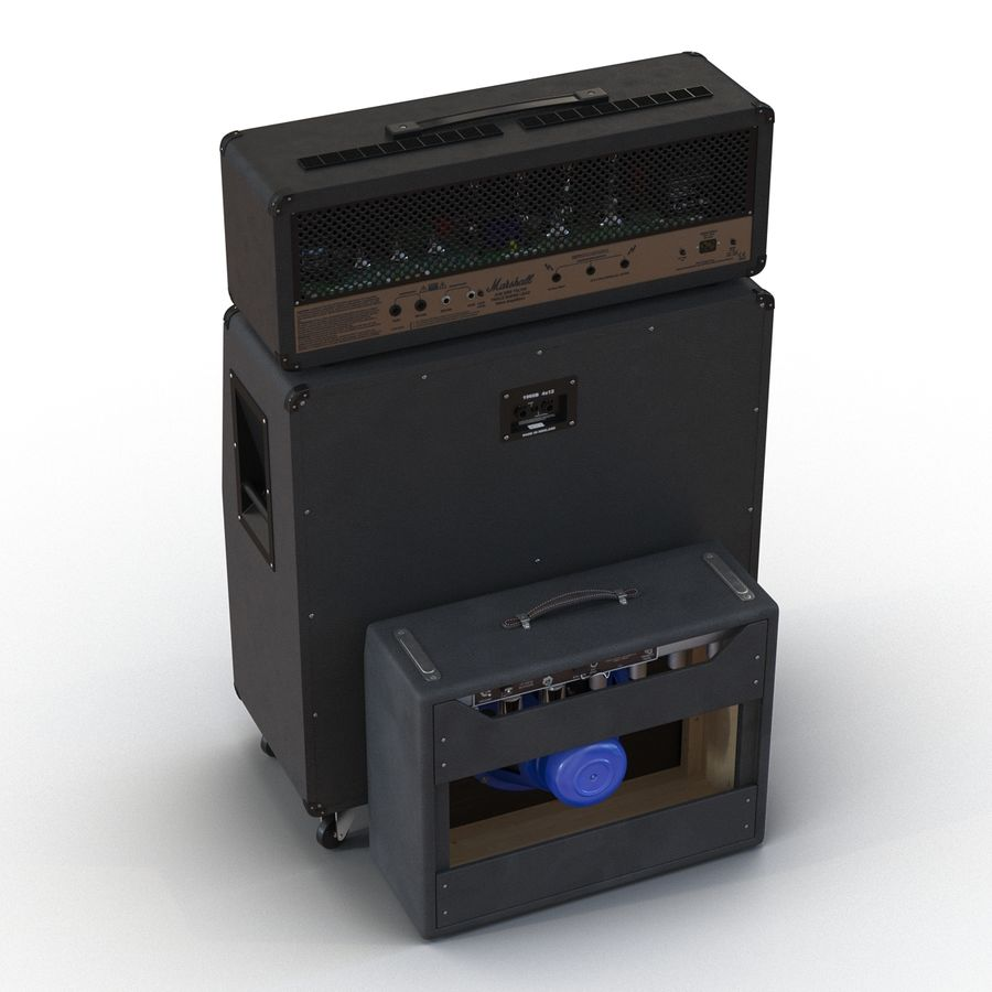 Guitar Amplifiers Collection royalty-free 3d model - Preview no. 10