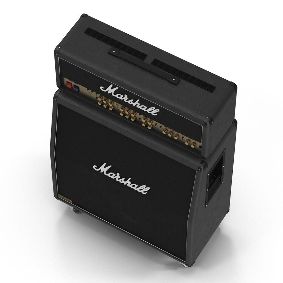 Guitar Amplifiers Collection royalty-free 3d model - Preview no. 18