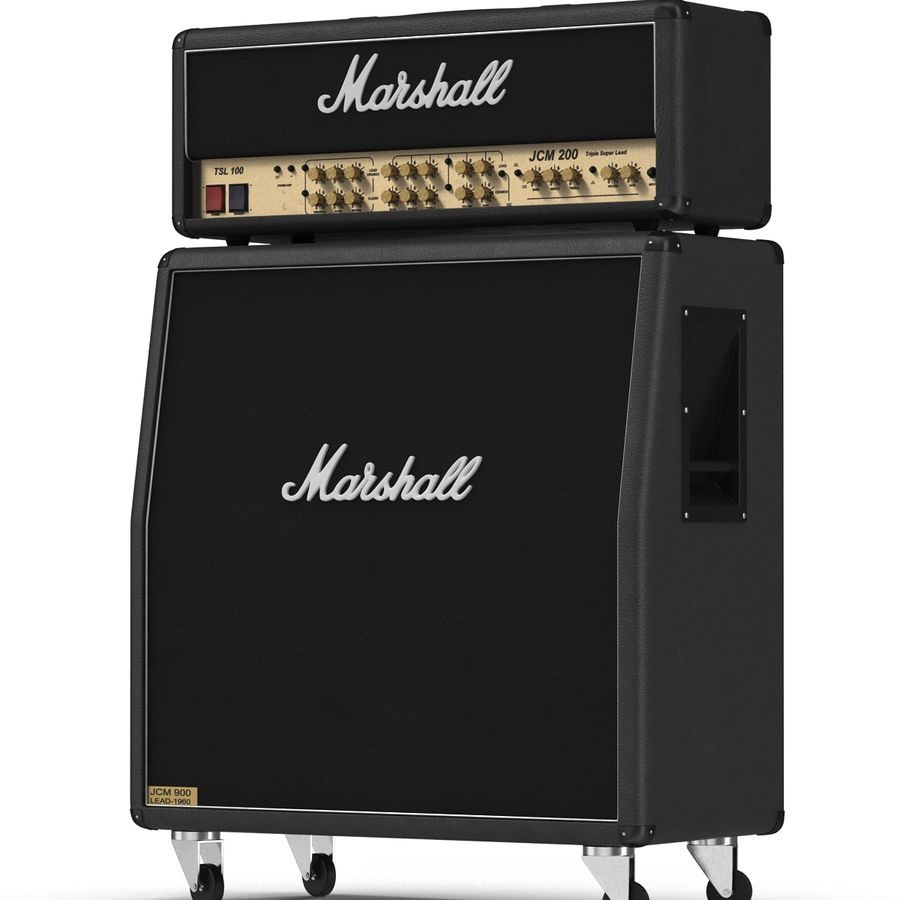 Guitar Amplifiers Collection royalty-free 3d model - Preview no. 19
