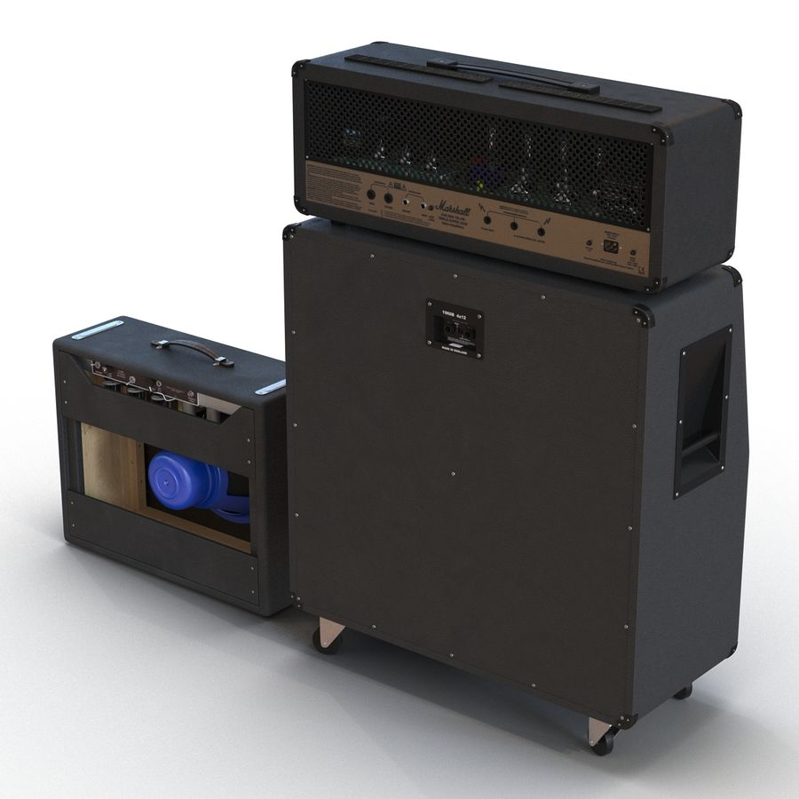 Guitar Amplifiers Collection royalty-free 3d model - Preview no. 4