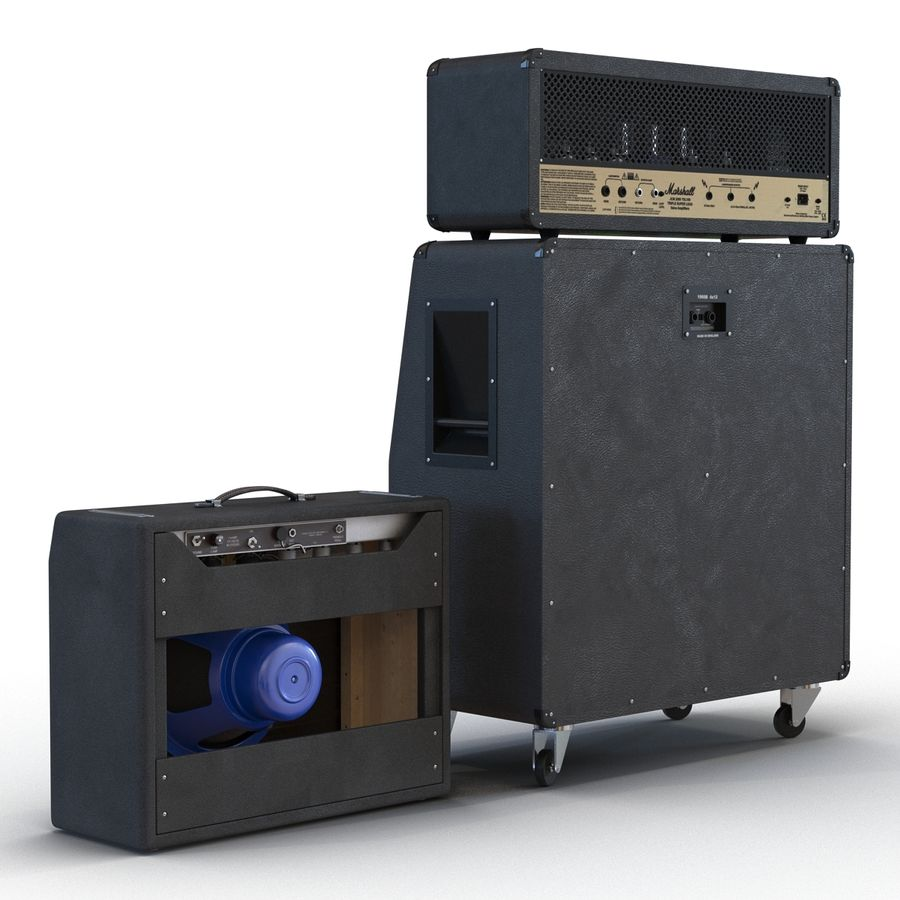 Guitar Amplifiers Collection royalty-free 3d model - Preview no. 5