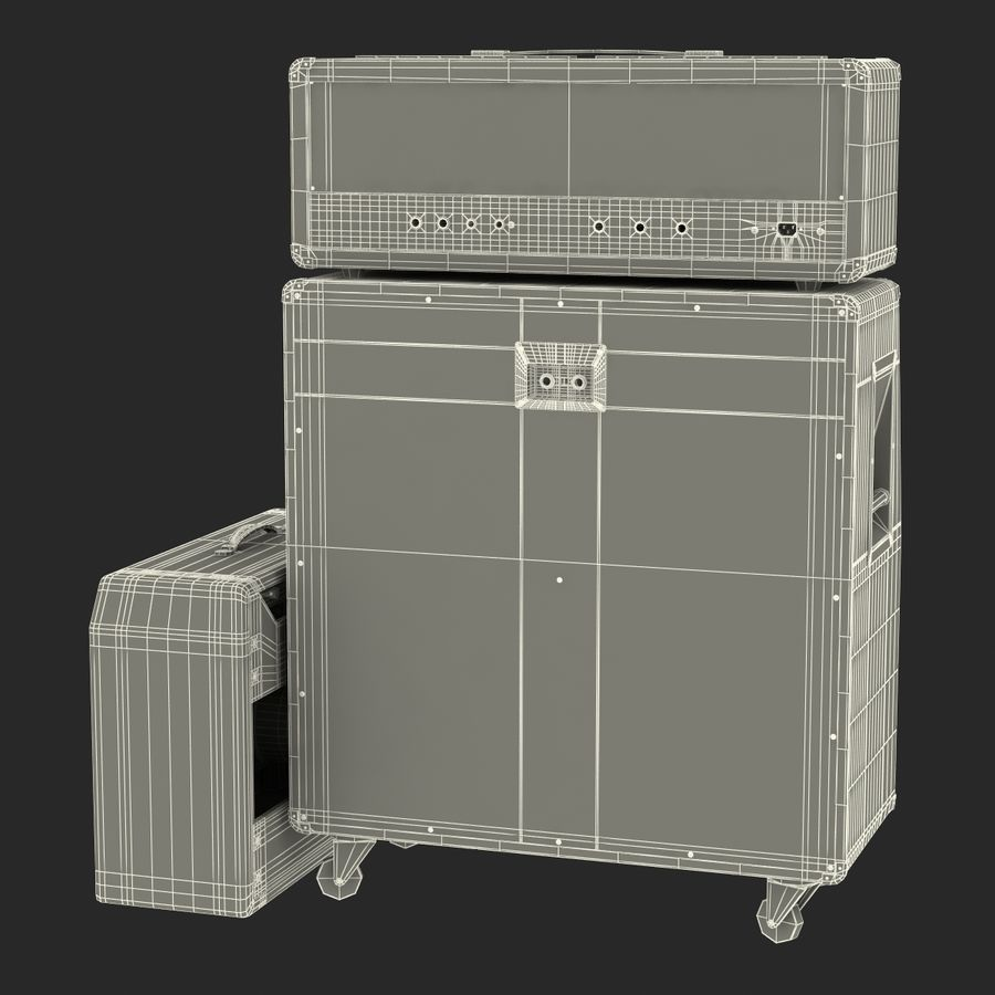 Guitar Amplifiers Collection royalty-free 3d model - Preview no. 41