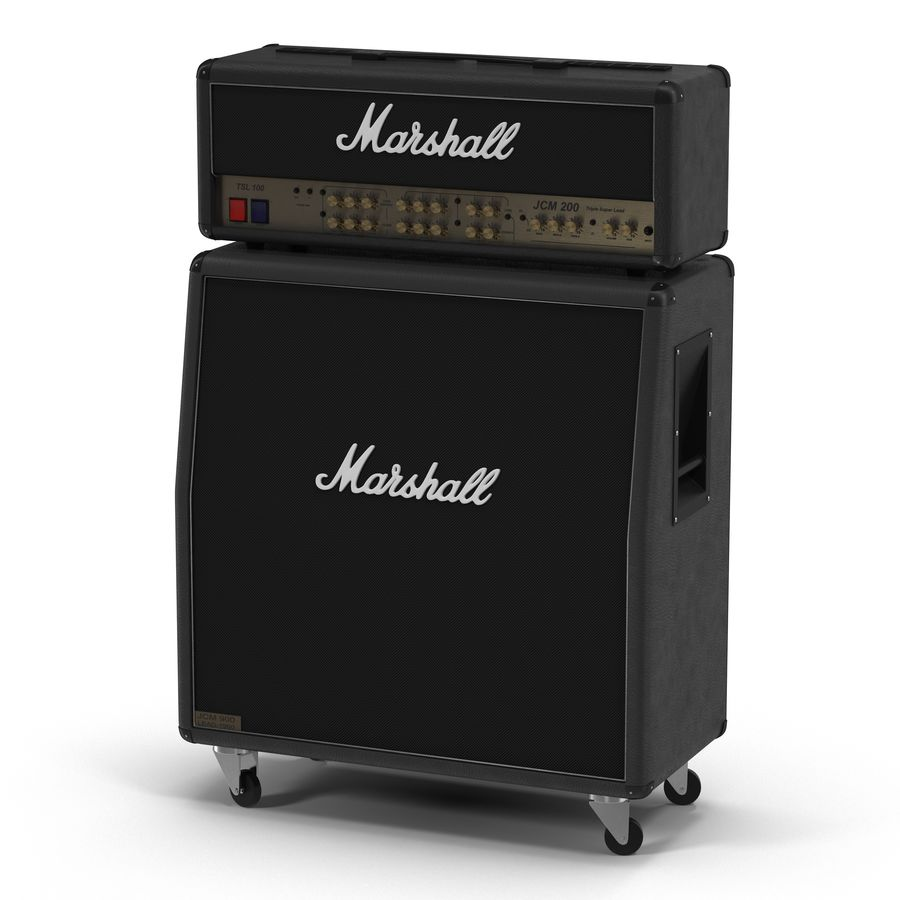 Guitar Amplifiers Collection royalty-free 3d model - Preview no. 12