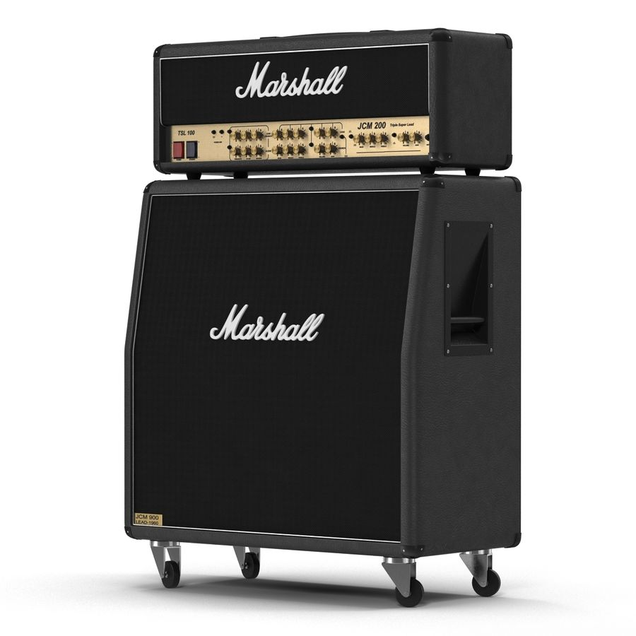 Guitar Amplifiers Collection royalty-free 3d model - Preview no. 14