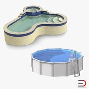 游泳池3D模型收藏 3d model