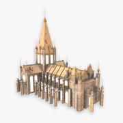 Low Poly Medieval Town Hall 3d model