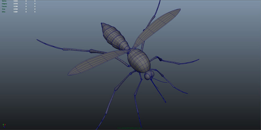 Mosquito royalty-free 3d model - Preview no. 5
