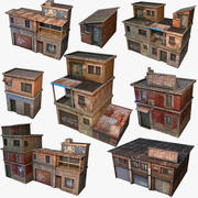House Geto Construct Low Poly 3d model