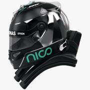 ニコ・ロズベルグ2016スタイルレーシングヘルメット 3d model