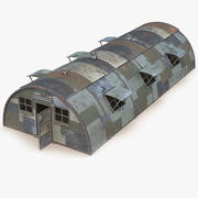 Quonset Barrack Rust 3d model