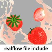 Splash Strawberry Realflow modelo 3d