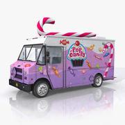 Candy Food Truck 3d model