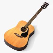 Guitarra popular modelo 3d
