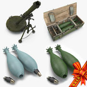 Mortars Collection 3d model