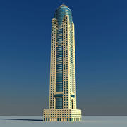 Marriott Harbour Dubai 3d model