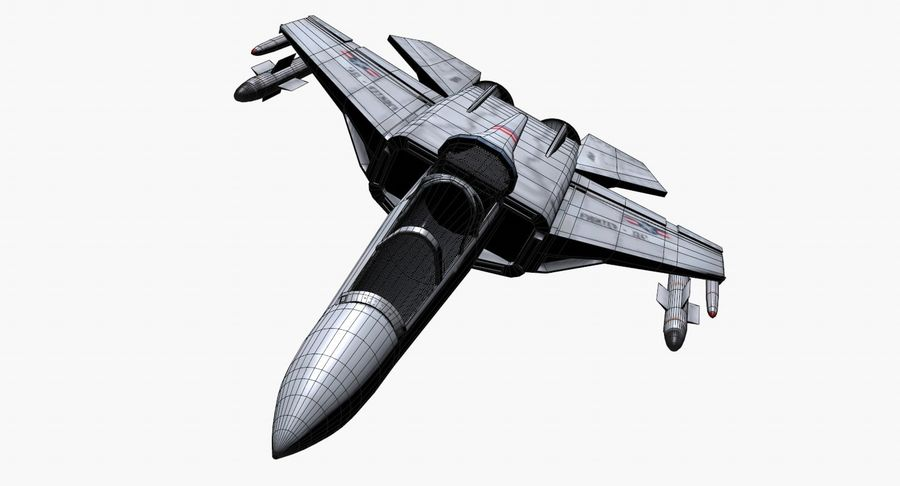 Fighter Aircraft royalty-free 3d model - Preview no. 17