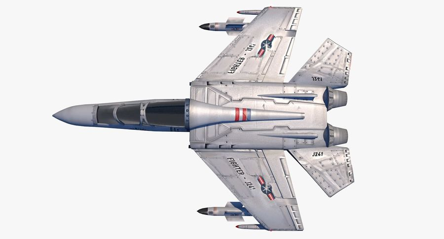 Fighter Aircraft royalty-free 3d model - Preview no. 10