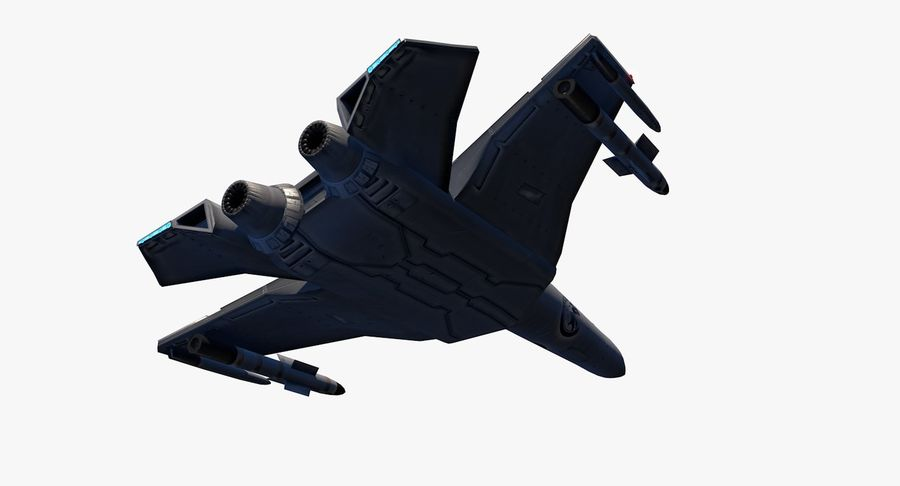 Fighter Aircraft royalty-free 3d model - Preview no. 14