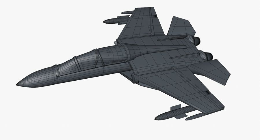 Fighter Aircraft royalty-free 3d model - Preview no. 19