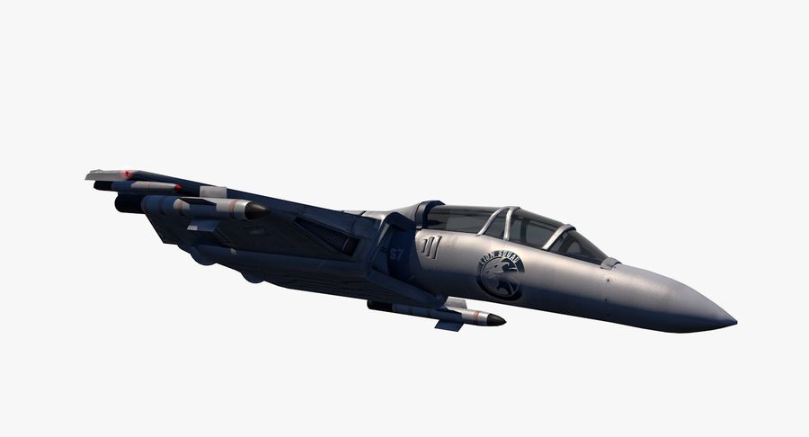 Fighter Aircraft royalty-free 3d model - Preview no. 15