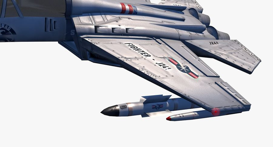 Fighter Aircraft royalty-free 3d model - Preview no. 16