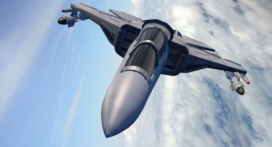 Fighter Aircraft royalty-free 3d model - Preview no. 8