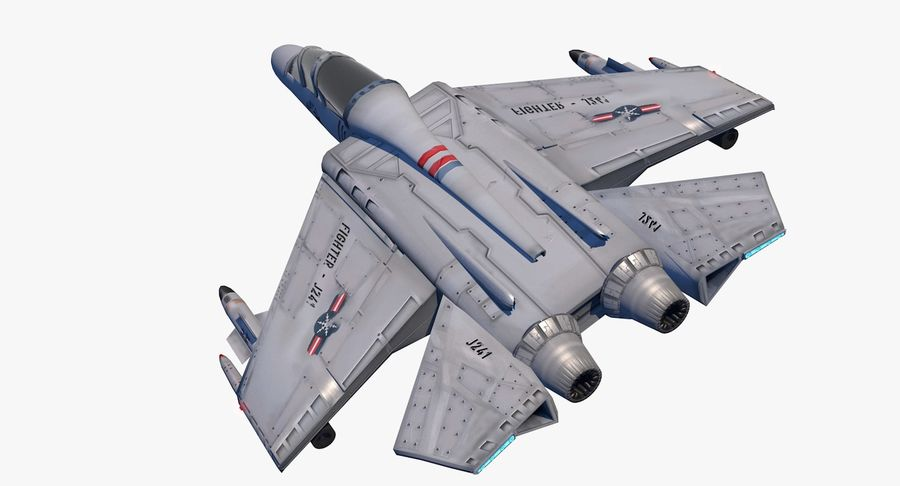 Fighter Aircraft royalty-free 3d model - Preview no. 11