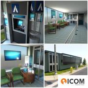 Bank Branch Waiting Room 3d model