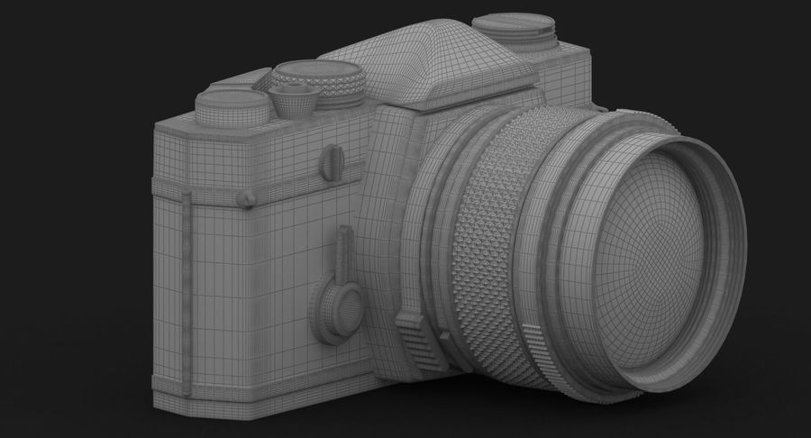 Vecchia macchina fotografica royalty-free 3d model - Preview no. 31