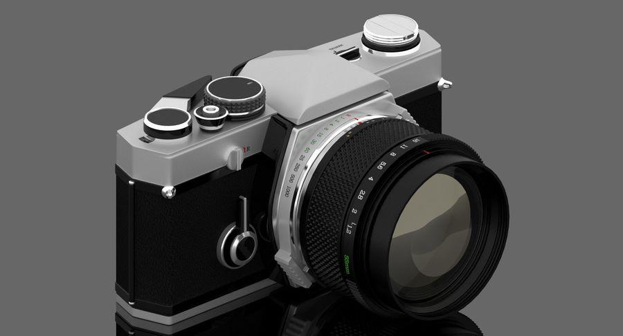 Vecchia macchina fotografica royalty-free 3d model - Preview no. 3