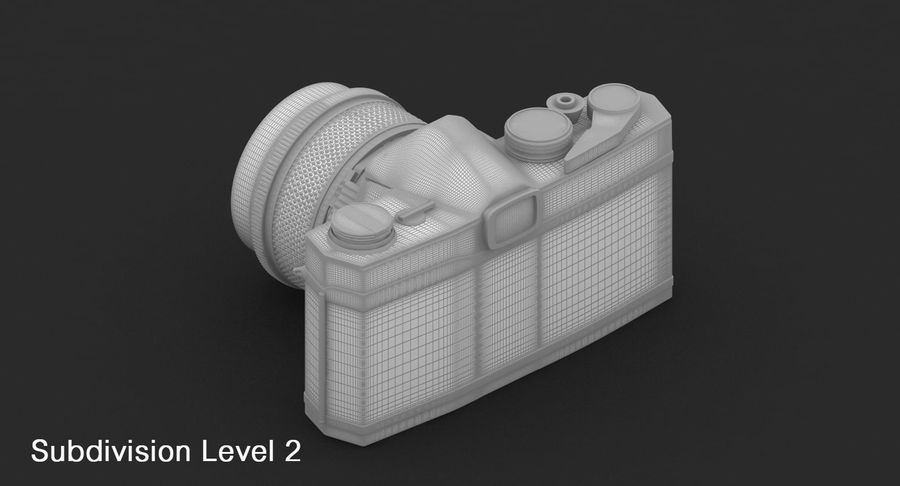 Vecchia macchina fotografica royalty-free 3d model - Preview no. 26
