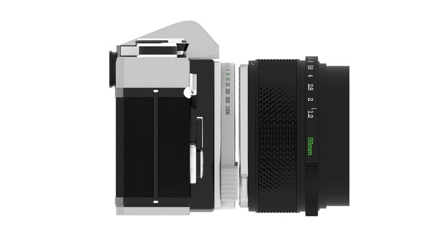 Vecchia macchina fotografica royalty-free 3d model - Preview no. 5