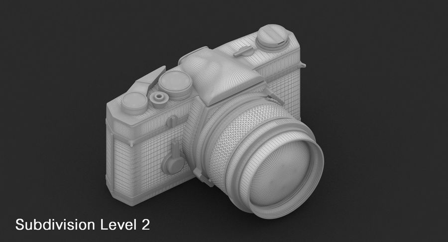 Vecchia macchina fotografica royalty-free 3d model - Preview no. 25