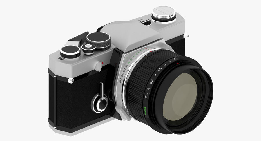 Vecchia macchina fotografica royalty-free 3d model - Preview no. 2