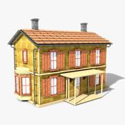 Casa de dois andares texturizada 3d model