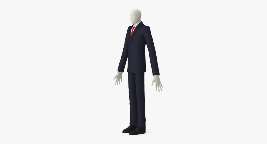 Szczupły mężczyzna royalty-free 3d model - Preview no. 4