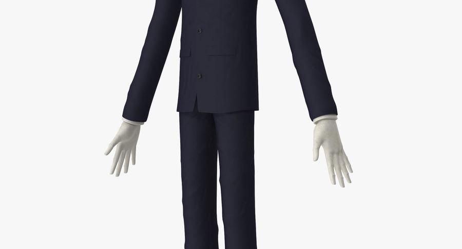 Szczupły mężczyzna royalty-free 3d model - Preview no. 13