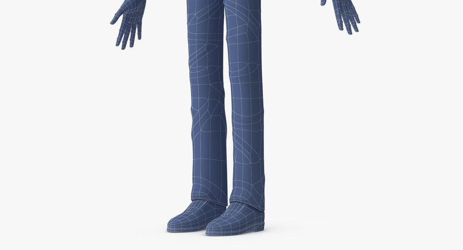 Szczupły mężczyzna royalty-free 3d model - Preview no. 23