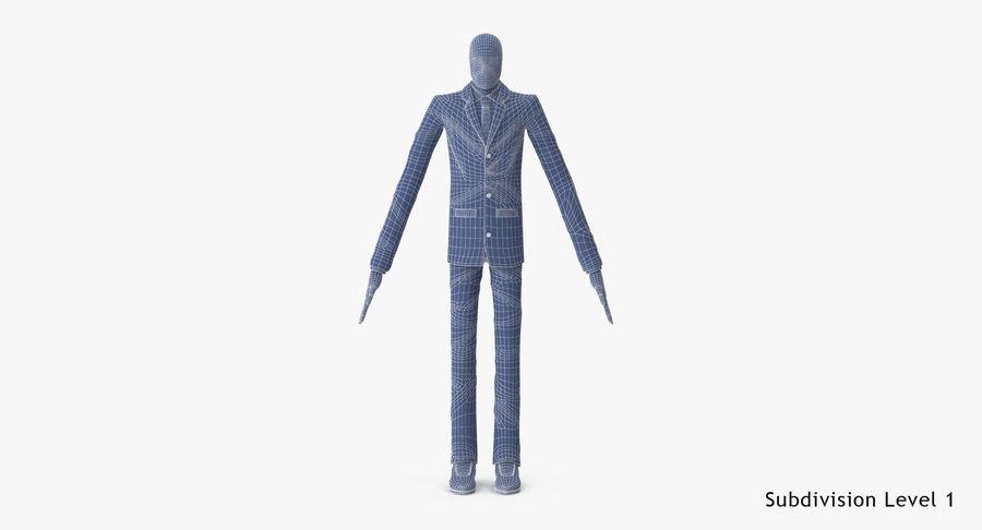 Szczupły mężczyzna royalty-free 3d model - Preview no. 27