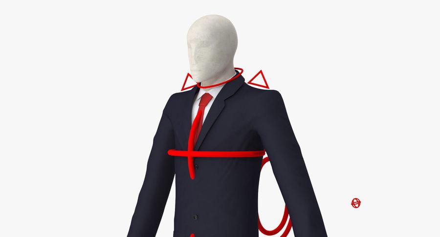Szczupły mężczyzna royalty-free 3d model - Preview no. 9
