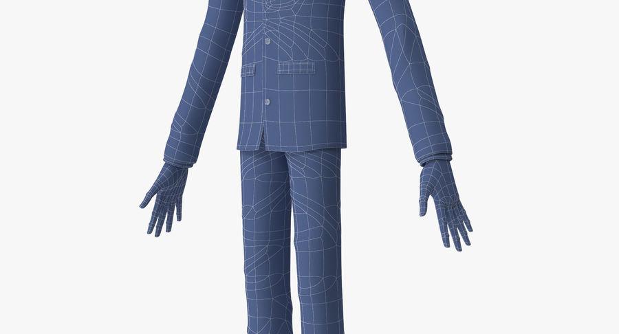 Szczupły mężczyzna royalty-free 3d model - Preview no. 22