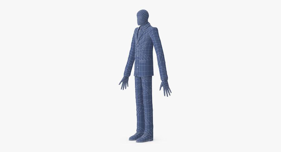Szczupły mężczyzna royalty-free 3d model - Preview no. 18