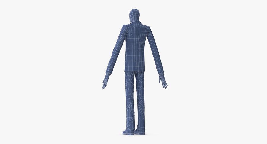 Szczupły mężczyzna royalty-free 3d model - Preview no. 19