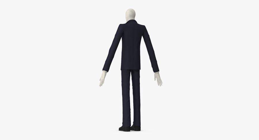 Szczupły mężczyzna royalty-free 3d model - Preview no. 10