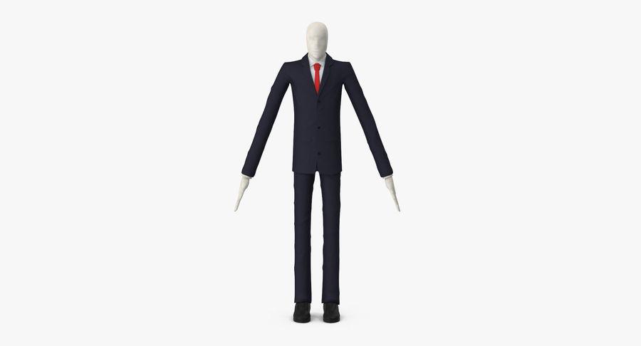 Szczupły mężczyzna royalty-free 3d model - Preview no. 3