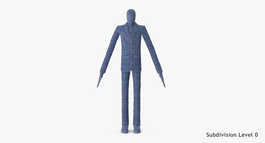 Szczupły mężczyzna royalty-free 3d model - Preview no. 26