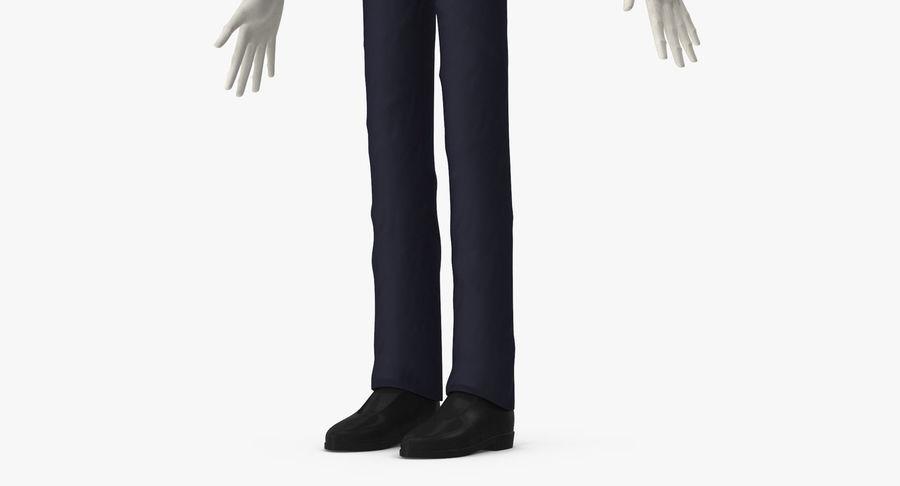 Szczupły mężczyzna royalty-free 3d model - Preview no. 14