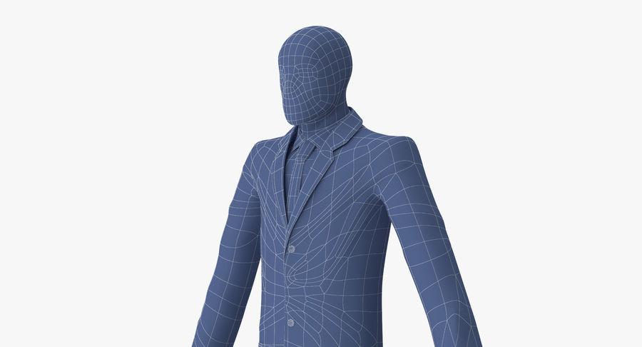 Szczupły mężczyzna royalty-free 3d model - Preview no. 21