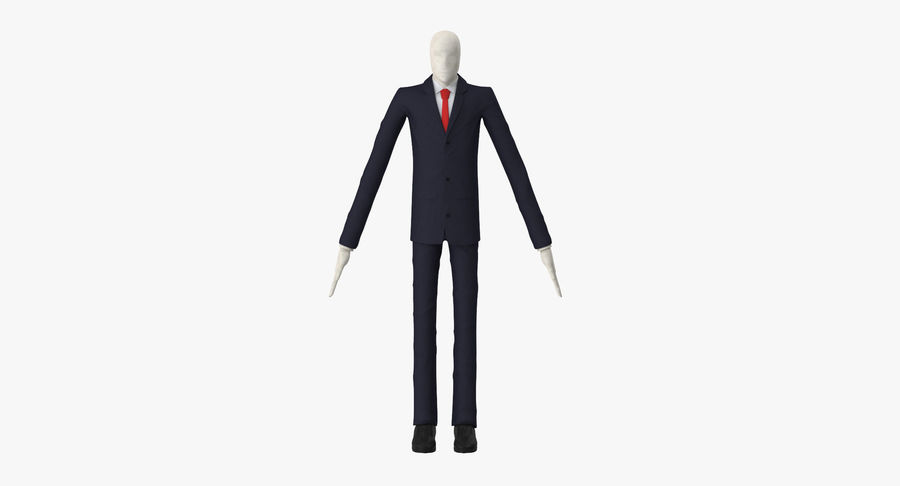 Szczupły mężczyzna royalty-free 3d model - Preview no. 2