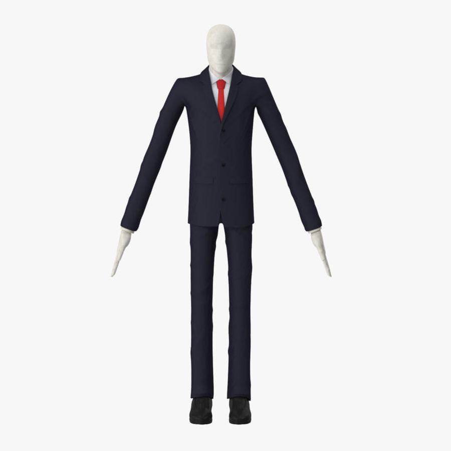 Szczupły mężczyzna royalty-free 3d model - Preview no. 1
